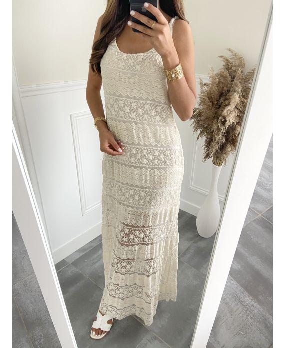 LONG DRESS 6537 BEIGE