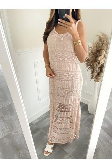 LONG DRESS 6537 PINK