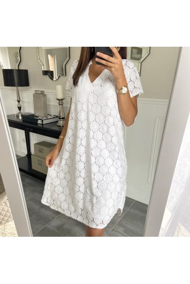ROBE BRODERIE ANGLAISE 9161 BLANC
