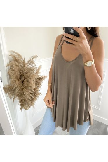 TOP STRAPLESS 9524 BROWN