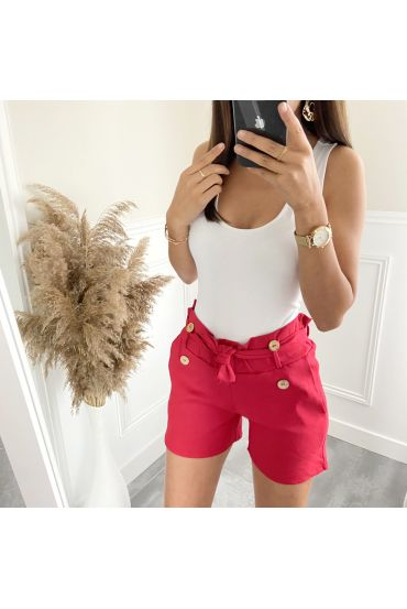 SHORTS BUTTONS 2825 RED