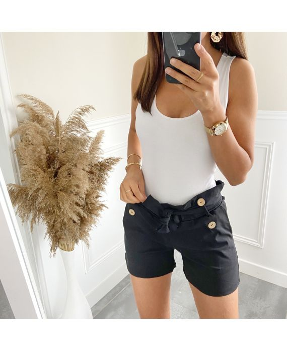 SHORTS BUTTONS 2825 BLACK