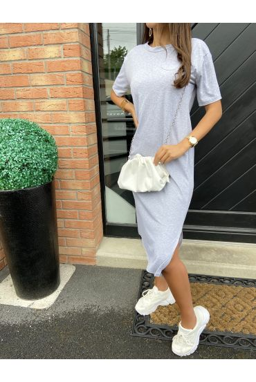 FLOWING GOWN SLIT 9543 GREY