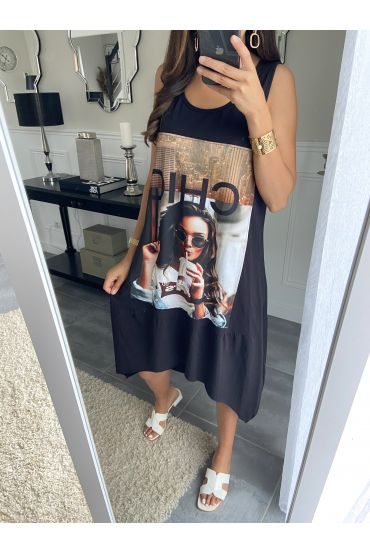 TUNIC DRESS WOMAN 2835 BLACK