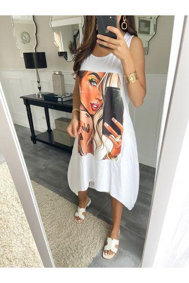 TUNIC DRESS WOMAN 2836 WHITE