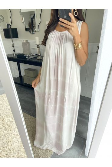 ROBE LONGUE TIE AND DYE 2841 ROSE