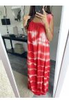 LONG DRESS TIE-DYE 2841 RED