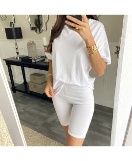 SET T-SHIRT + SHORTS 2841 WHITE
