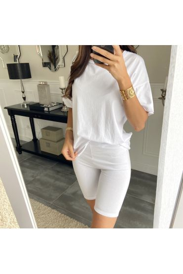 SET T-SHIRT + KORTE BROEK 2841 WIT