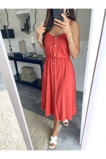 DRESS HAS BUTTONS 9539 RED