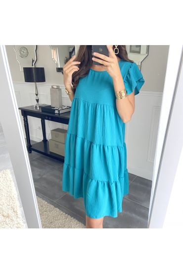DRESS OVERSIZE 9573 BLUE