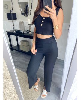 SET TOP + PANTS 9535 BLACK