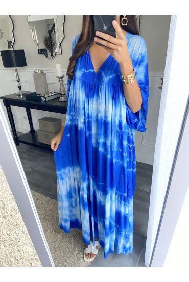 LONG DRESS TIE-DYE 2825 BLUE