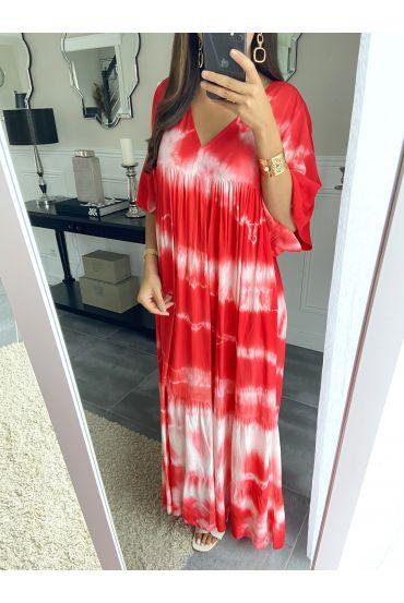LONG DRESS TIE-DYE 2825 RED