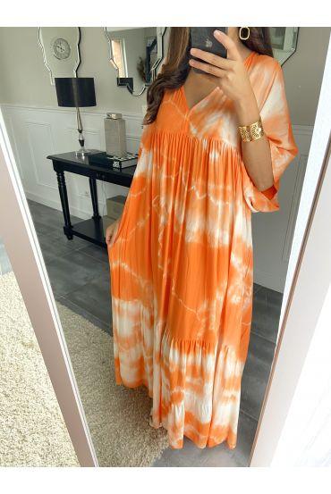 LONG DRESS TIE-DYE 2825 ORANGE