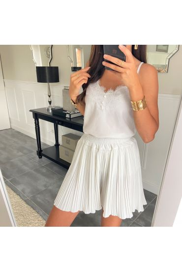 SHORT PLEATS 2952 WHITE