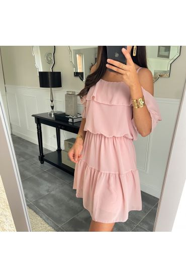 DRESS CLOAKING SHOULDERS DENUDEES 8526 ROSE