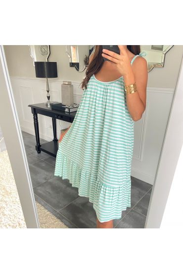 DRESS RAYEE HAS SHOULDER STRAPS 2951 PASTEL GREEN