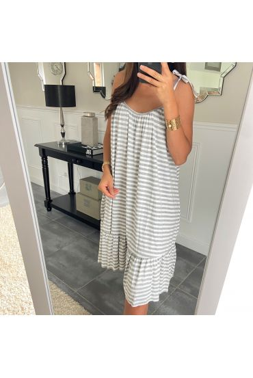 DRESS RAYEE HAS SHOULDER STRAPS 2951 GREY