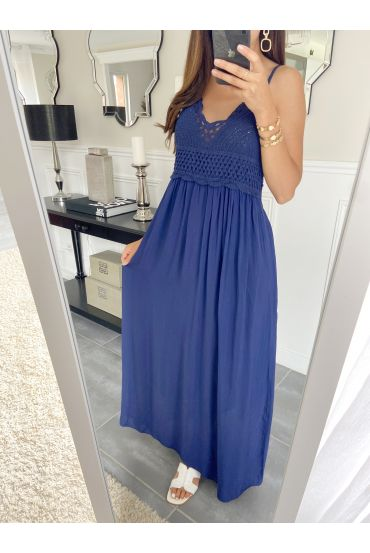 LONG DRESS 2805 KNIT NAVY BLUE