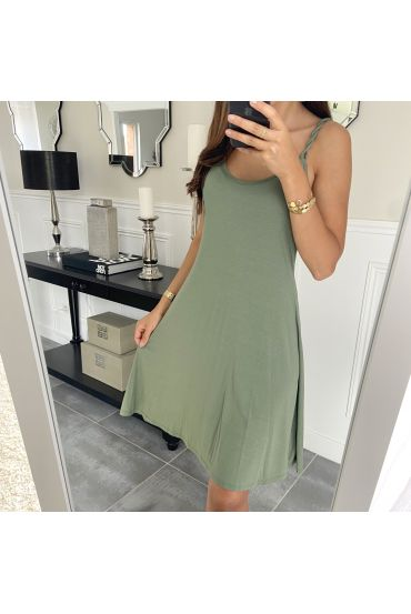 STRAPLESS GOWN NOUEES 2880 MILITARY GREEN