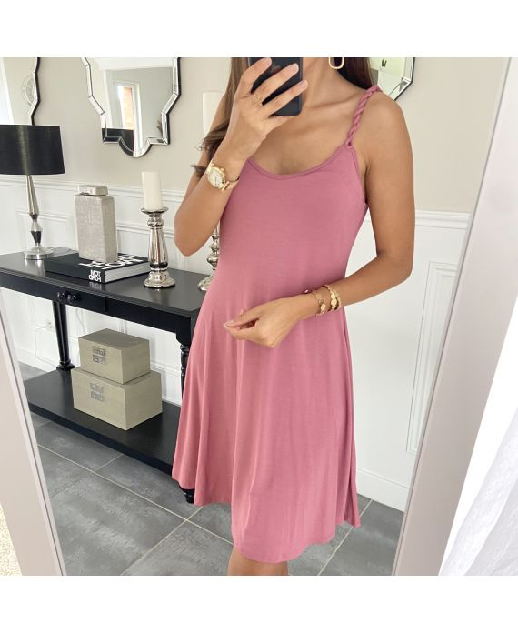STRAPLESS GOWN NOUEES 2880 ROSE