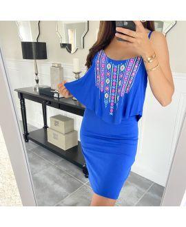 SHORT DRESS AZTEQUE 5853 ROYAL BLUE