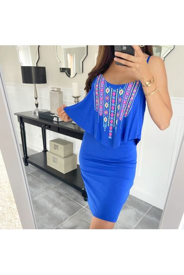 SHORT DRESS AZTEQUE 5853 ROYAL BLUE