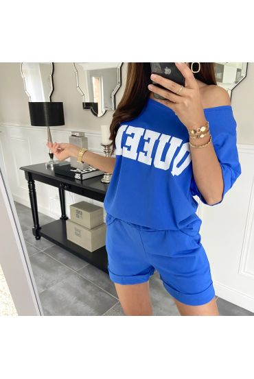 SET SHORTS T-SHIRT 9521 ROYAL BLAU