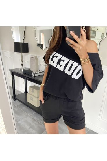 SET SHORTS T-SHIRT 9521 SCHWARZ