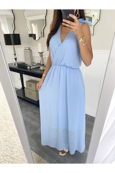 LONG DRESS 2945 BLUE