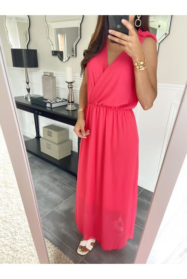 LONG DRESS 2945 RASPBERRY