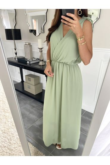 LONG DRESS 2945 PASTEL GREEN