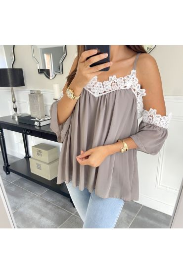 TOP STRAPLESS 6772 TAUPE