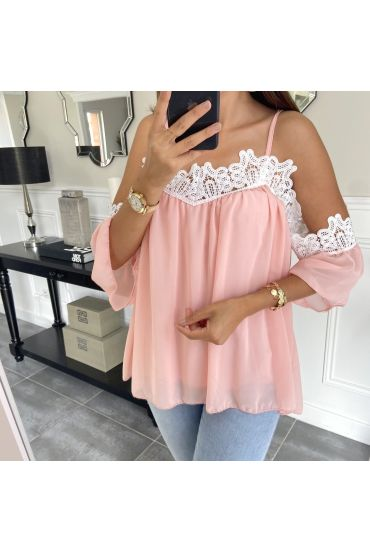 TOP STRAPLESS ROZE 6772