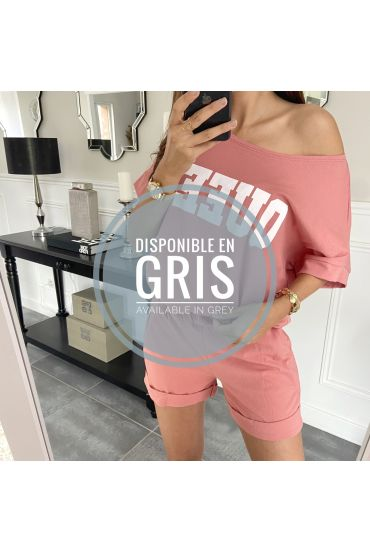 SET SHORTS T-SHIRT 9521 GRIGIO