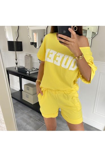 SET SHORTS T-SHIRT 9521 GELB