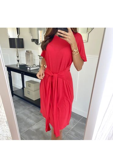 DRESS HAS TIE 3945 RED