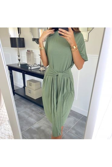DRESS HAS TIE 3945 MILITARY GREEN
