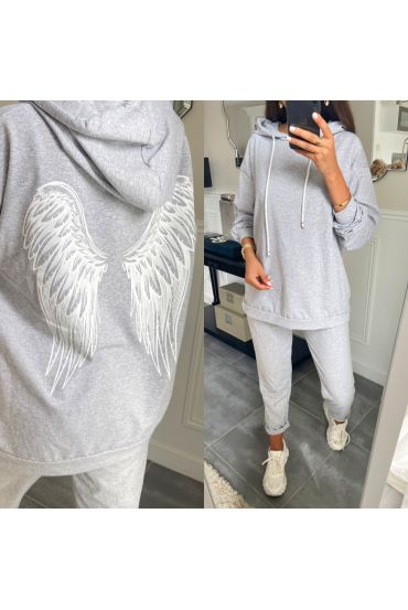 SET PANTS + SWEATER WINGS OF ANGEL 8976 GRAY