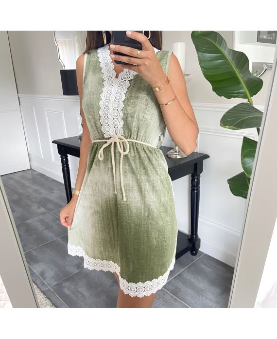 DRESS LACE EFFECT DELAVE 7769 GREEN
