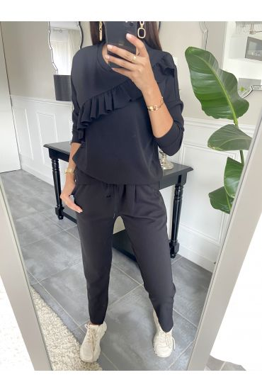 SET PANTS + SWEATER 9653 BLACK