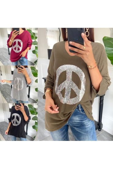 PACK 5 PULLOVERS LOOSE PEACE AND LOVE 8948