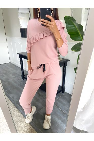SET PANTS + SWEATER 9653 PINK