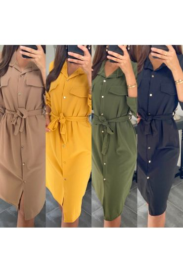 PACK 5 DRESSES BELT SHIRT 9655I2