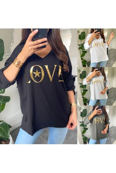 PACK MIT 5 T-SHIRTS LOVE 9648