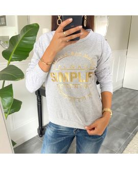 SWEAT/PULL SCRIPTURE 8400 GREY