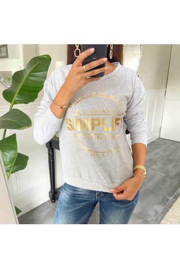 SWEAT/PULL ECRITURE 8400 GRIS