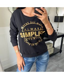 SWEAT/PULL SCRIPTURE 8400 BLACK