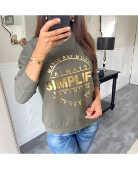 SWEAT/PULL SCRIPTURE 8400 GREEN MILITARY